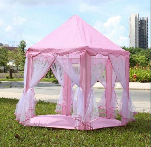 Portable Play Tent Kid Girl Princess Castle Fairy Netting Ca