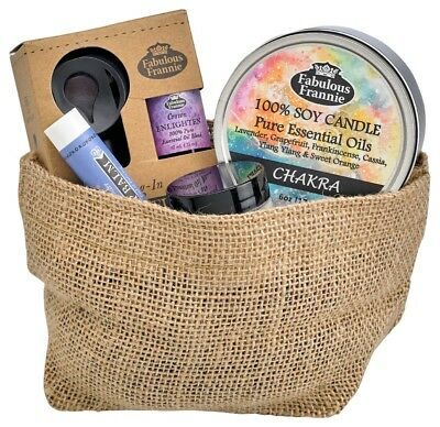 All Natural Gift Basket - Chakra Gift Basket All Natural with Essential Oils by Fabulous Frannie