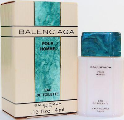 BALENCIAGA POUR HOMME Cologne EDT EAU DE TOILETTE MINI 0.13 oz 4 ml Splash MEN