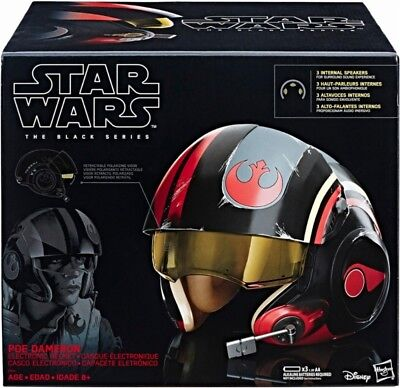 Star Wars - Black Series Poe Dameron Electronic X-Wing Pilot Helmet - VG In Box