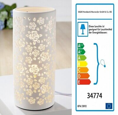 Rosen Lampe (Porzellanlampe Leuchte