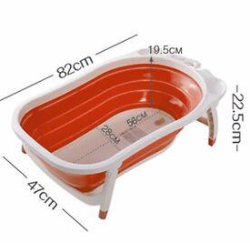 Karibu Baby Folding Bath Fold Away Bathtub - White Red for sale £15 ono
