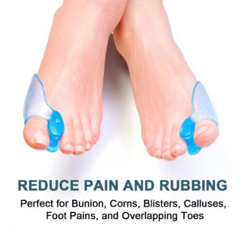 1 Pair Silicone Gel Bunion Toe Corrector Orthotics Straightener Separator Pain