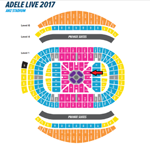 Adele - 2x A Reserve Floor - Sydney - Friday 10th March Sydney City Inner Sydney Preview