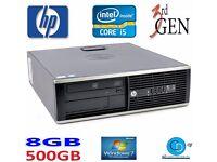 HP COMPAQ 6300 i5-3470 CPU QUAD CORE-3RD GEN-8GB RAM-500GB HD-WIN 8.1-DVD-WR