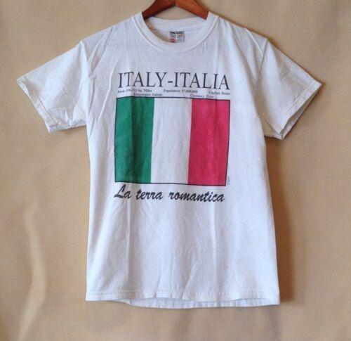 Italy - Italia La terra romantica  t-shirt, size: Adult Small
