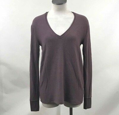 Nordstrom Bp Womens Tunic Sweater V Neck Pullover Purple Syrup Size Xxs New