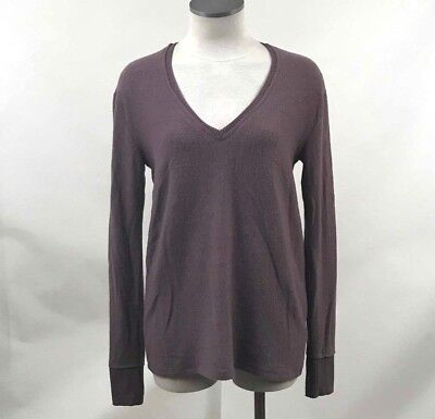 Nordstrom Bp Womens Tunic Sweater V Neck Pullover Purple Syrup Size M New