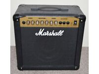 Marshall guitar amplifier and effects pedal