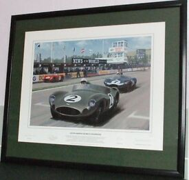 """ASTON MARTIN WORLD CHAMPIONS"" MULTI SIGNED & HIGHLY COLLECTABLE"
