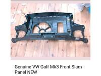 Genuine vw golf mk3 front slam panel new.