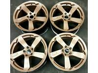 "19"" Dotz Racing alloys 5x114, staggered fitment, bronze metallic."
