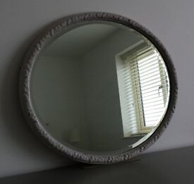 Old Oval Bevel Edged Mirror