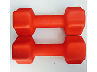 2 x 7kg neoprene dumbbells excellent condition like new