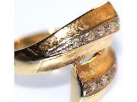 STUNNING 18CT GOLD RETRO STYLE MEN'S DIAMOND RING MADE IN ENG FULLY HALLMARKED GREAT WORK OF ART J4U