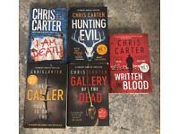 Chris Carter: Detective Robert Hunter Books - £2 each