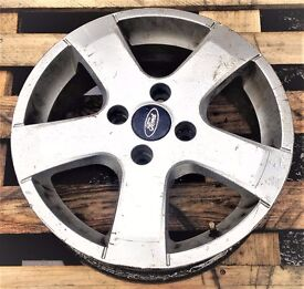 """3 FORD 15"""" ALLOYS 4 STUDS GOOD CONDITION (£35.00 FOR EACH)"""