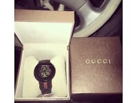 Men's Black Digital Gucci Watch