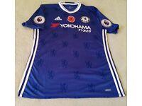 Chelsea Eden Hazard Adizero Poppy Match Jersey v Everton 05/11/16 XL Mint Unworn