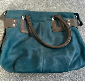 Beautiful teal leather bag