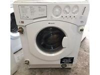 NEW MODEL HOTPOINT BHWD129 INTEGRATOR WASHER & DRYER 3 MONTH WARRANTY, FREE INSTALLATION