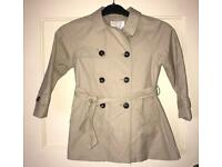 Zara Girls beige Mac coat