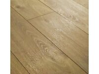 BRAND NEW 7 packs (11sq.m.) rustic oak 8mm v-groove click laminate flooring + 3mm underlay .