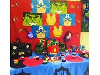 Super Heroes Party Package - Bouncy Castle, Soft Play, Balloons, Face Painting, Pop Corn/Candy Floss
