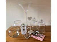 Candy Buffet Glassware and Accessories - 10 items