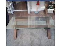 Wood & Glass Coffee Table REDUCED