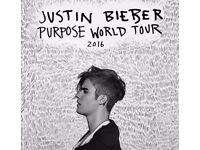 X2 JUSTIN BIEBER TICKETS 02 arena 28th november