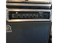 Ampeg B500dr amp head. Ampeg 4 x 10 B Series Bass speaker. Ampeg 1 x 15 B Series Bass speaker.