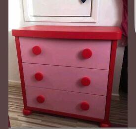 Ikea pink mammut drawers