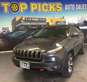 2014 Jeep Cherokee TRAILHAWK, LEATHER, PAN ROOF, NAVIGATION, V6!