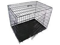 RayGar Medium Sized FOLDABLE Dog / Cat / Pet Cage Carrier