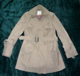 Jasper Conran Beige Mac with Belt Size 10 Immaculate Condition (Worn Once)