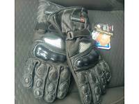 Brand New GearX Leather Motorcycle Gloves Size XL