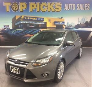 2012 Ford Focus TITANIUM, LEATHER, SUNROOF, NAVIGATION!