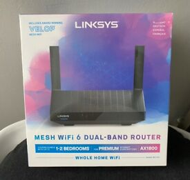 Linksys MR7350 - Mesh Wi-Fi 6 Router - Dual-Band AX1800 - RRP £155