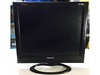 """Slimline 17"""" TFT monitor,immaculate,as new, bargain at only £30,can be used for CCTV cameras etc.."""
