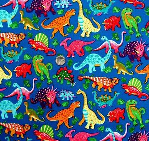 Dinosaur fabric ebay for Dinosaur fabric