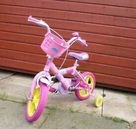 Peppa Pig 12 inch bike in pink. Bargain!