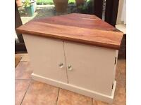 Shabby Chic Style TV Corner Unit Very solid wood TV cabinet
