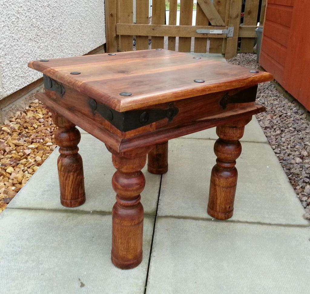 Sheesham Bedroom Furniture Indian Jali 45cm X 45cm Solid Sheesham Wood Side Coffee Lamp Table