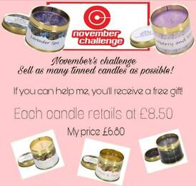 Tinned candles £1.70 off