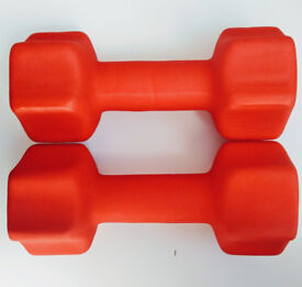 2 x 7kg neoprene dumbbells new