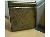 152mm x 152 bronze effect torous skirting tiles