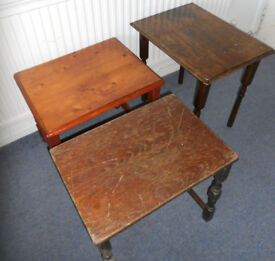 Wooden Coffee or Side Tables to paint - £10 each
