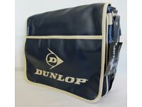 Dunlop Men's Retro Messenger/ Sport/ Bike/ College/ School Shoulder Bag NavyBlue