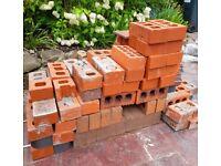 Bricks (red & black) and wall construction tiles job lot